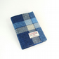 Harris tweed covered notebook journal blue and white