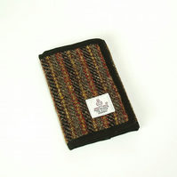 Harris tweed wallet grey stripe billfold gift for men,
