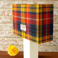 Harris Tweed drum lampshade bright tartan wool fabric table lamp shade