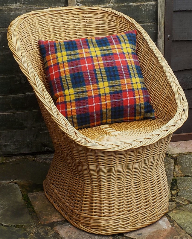 Harris tweed cushion cover bright tartan check plaid decorative pillow