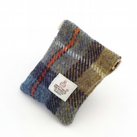 Harris tweed Mackenzie tartan mens purse pocket change gents flex top coin purse