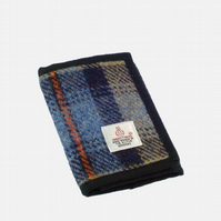 Harris tweed wallet Mackenzie tartan billfold gift for men