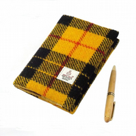 Harris tweed A6 book cover Macleod tartan diary notebook journal
