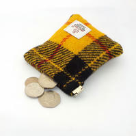 Harris tweed Macleod mens purse pocket change gents flex top coin purse