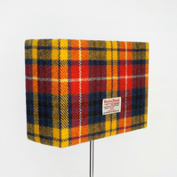 Harris Tweed lampshade bright tartan wool fabric rectangular table lamp shade