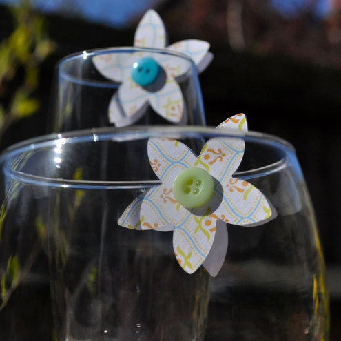 Patterned Flower Glass Toppers - Decoration - Incl P&P