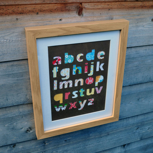 'Abc' Alphabet Framed Collage - 28cm x 23cm - Incl P&P