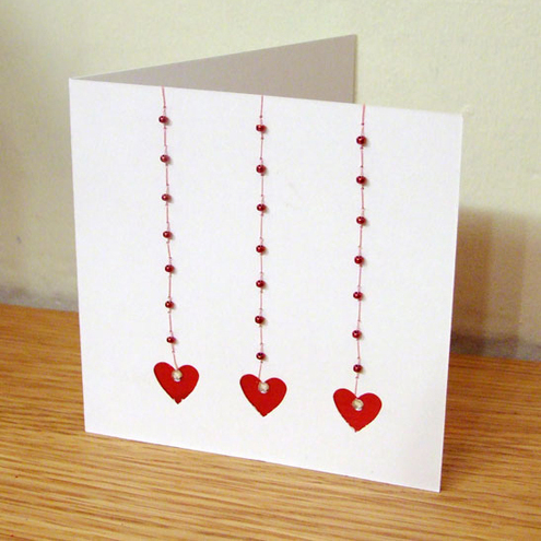 Beaded Heart  Card
