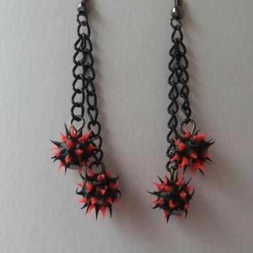 Funky Punky Double Drop Earrings