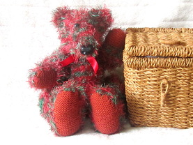 Knitted bear.  Handknitted bear