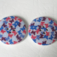 3 wooden buttons with butterfly design