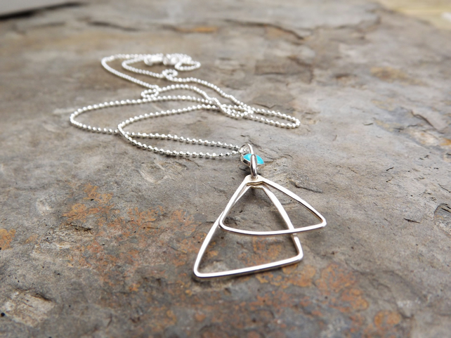 Triangle with turquoise