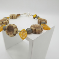 Leaves and flowers bracelet