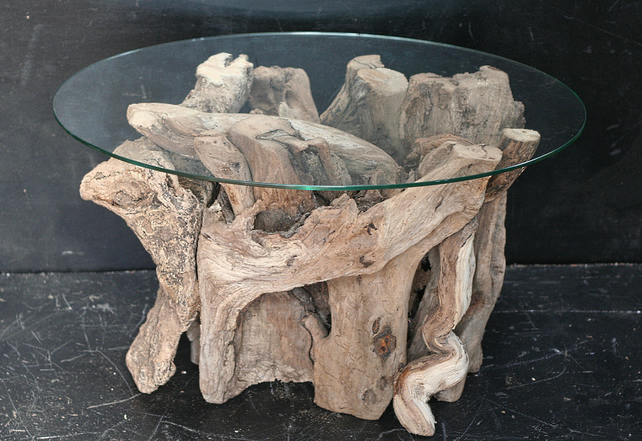 Driftwood Gl Top Coffee Table Drift Wood Cornwall Uk