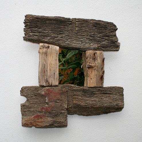 DRIFTWOOD MIRROR, Drift Wood., Driftwood art, Cornwall