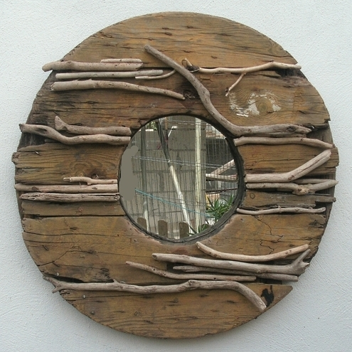 DRIFTWOOD & RECLAIMED WOOD MIRROR~ ~LARGE~