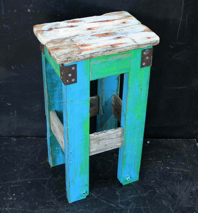Driftwood reclaimed side table end table hall t folksy for Driftwood tables handmade