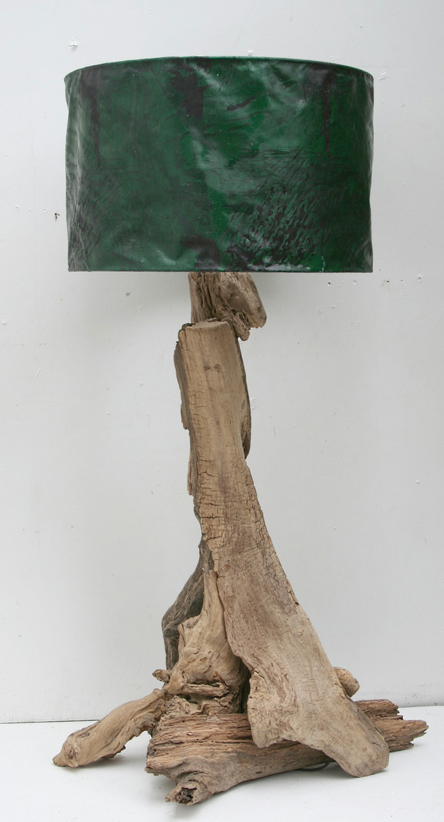 Driftwood Table Lamp Base Only 110cm Tall To To Folksy