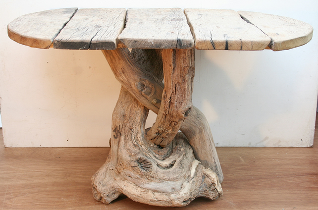 Driftwood Dining Table Driftwood Patio Rustic T Folksy