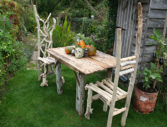 Driftwood Dining Table Drift Wood Dining Table Folksy