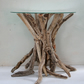 Driftwood glass topped Coffee Table, Drift Wood SideTable,Glass topped end table