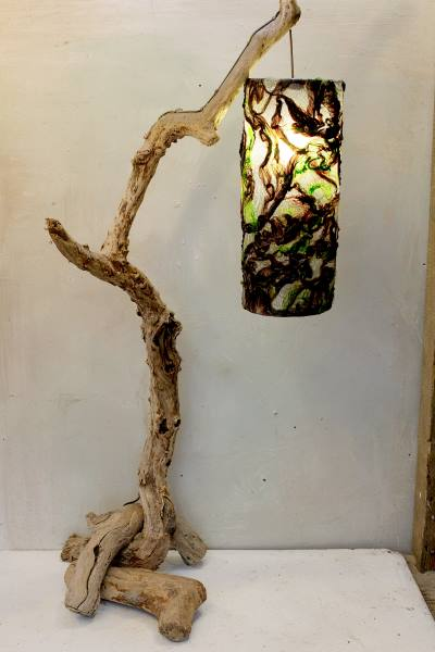 Driftwood Floor Lamp Drift Wood Standard Lamp Folksy