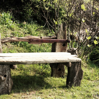 Driftwood Garden Bench, Drift Wood garden seat, Drift Wood Garden Bench