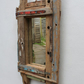 Driftwood Mirror,Drift Wood old painted Wood Mirror,Driftwood Fishing Boat Wood