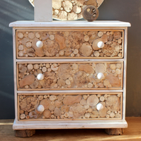 Three Draw Driftwood Chest,Driftwood Chest of Drawers,Driftwood Pine Chest