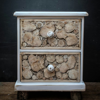 Driftwood Bedside Table,Drift wood Bedside Cabinet Coastal Style, Beach Hut
