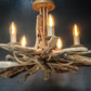 Driftwood Chandelier, Large Chunky,Five light driftwood pendant,Drift Wood Light
