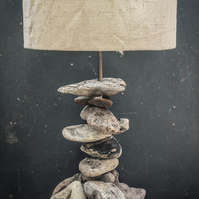 Driftwood Table Lamp,Rustic Driftwood Lamp,Drift Wood Table Lamp, with shade