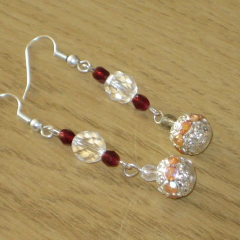 Disco Ball Long Drop Earrings