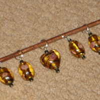 Golden Rose Knitting Stitch Markers