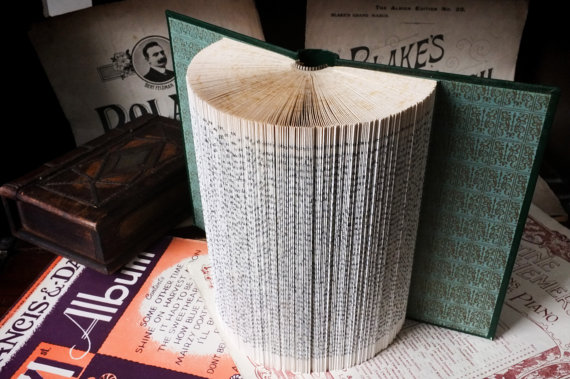 Decorative Origami Folded Book Art Wall Sculpture - 'Tess of the d'Urbervilles'