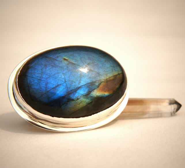 Nebula Labradorite and Sterling Silver Ring