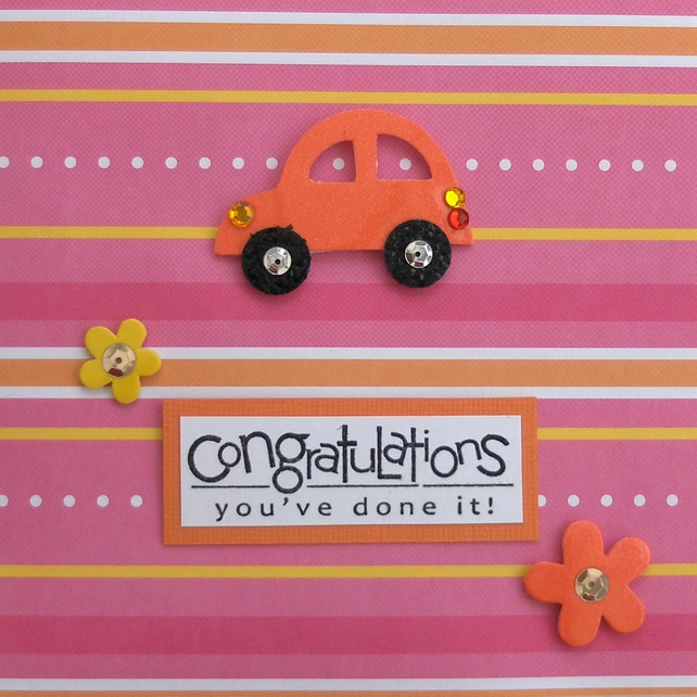 'Congratulations - you've done it!' Driving test pass greetings card