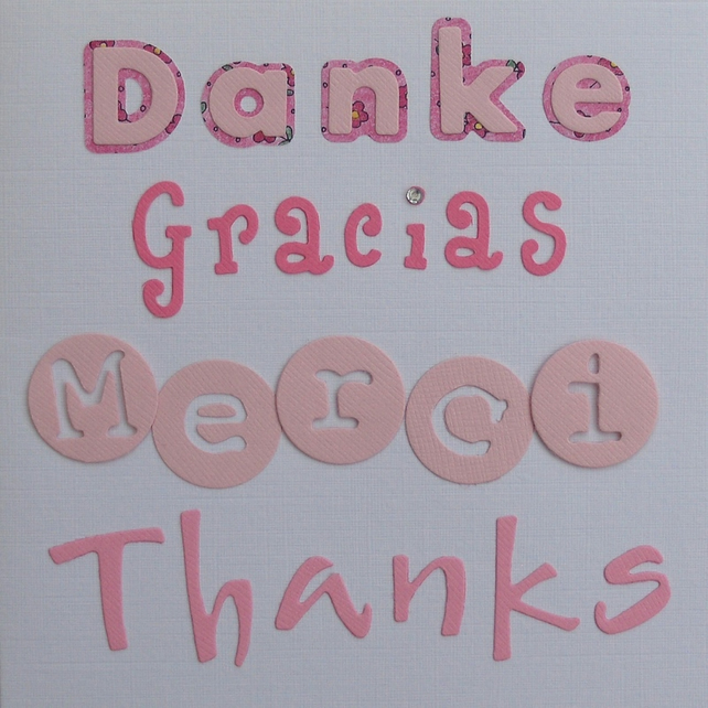 Thankyou greetings card