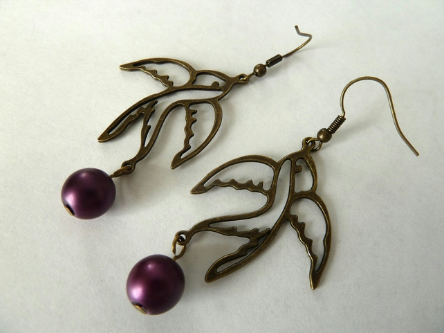 SALE swallow earrings