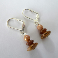 lever back czech glass earrings