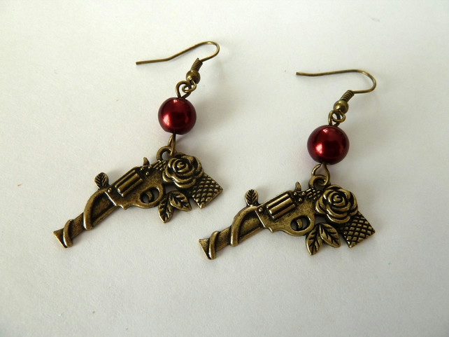 SALE guns n roses earrings