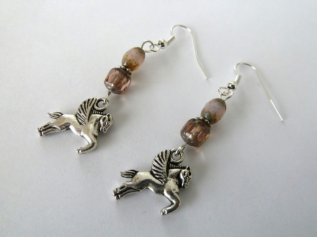 SALE pegasus earrings