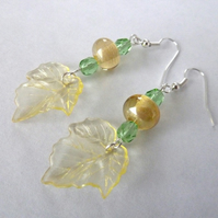 lemon leaf earrings