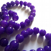 8mm purple glass beads