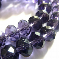 purple crystal rondelles