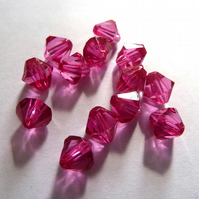 HALF PRICE  8mm pink bicones