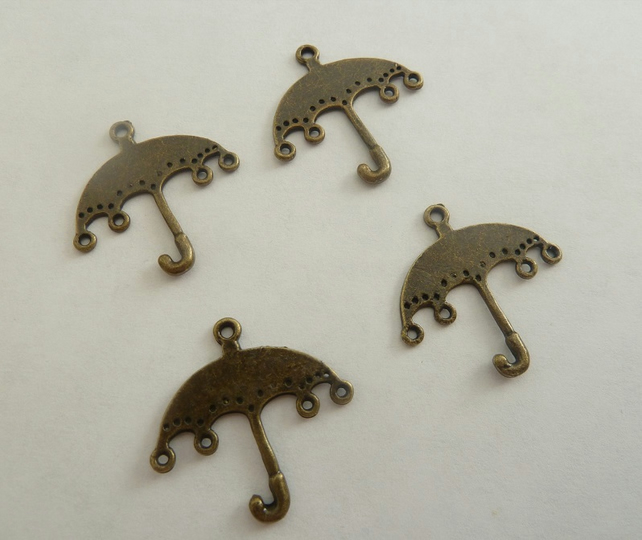 SALE bronze umbrella charms