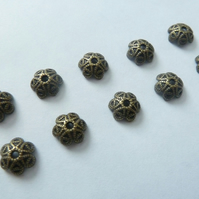 bronze bead caps