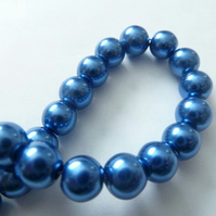 blue glass pearls