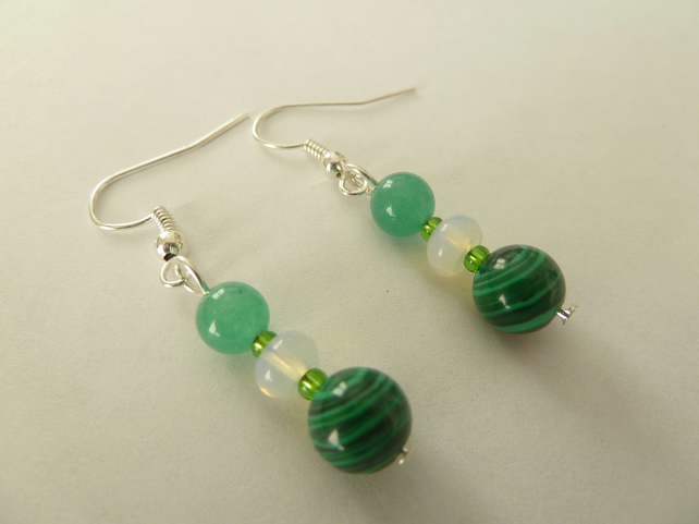 SALE malachite earrings